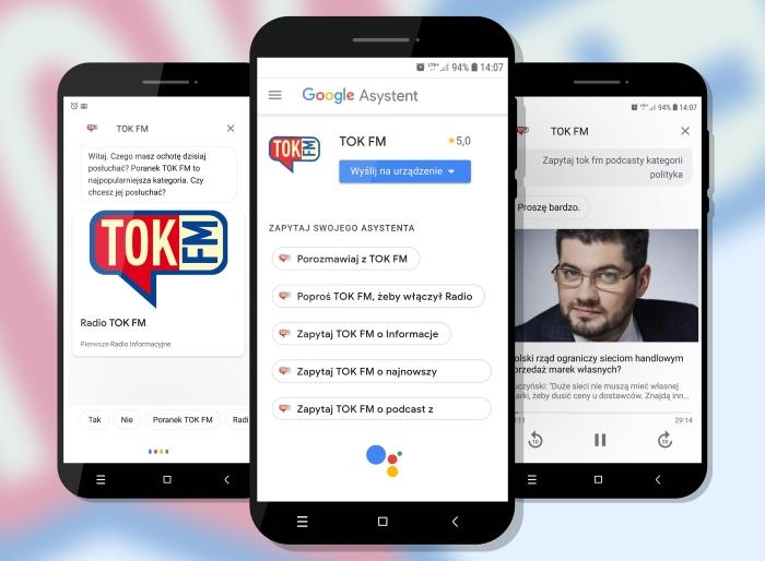 TOK FM pierwszą polską aplikacją radiową w Asystencie Google