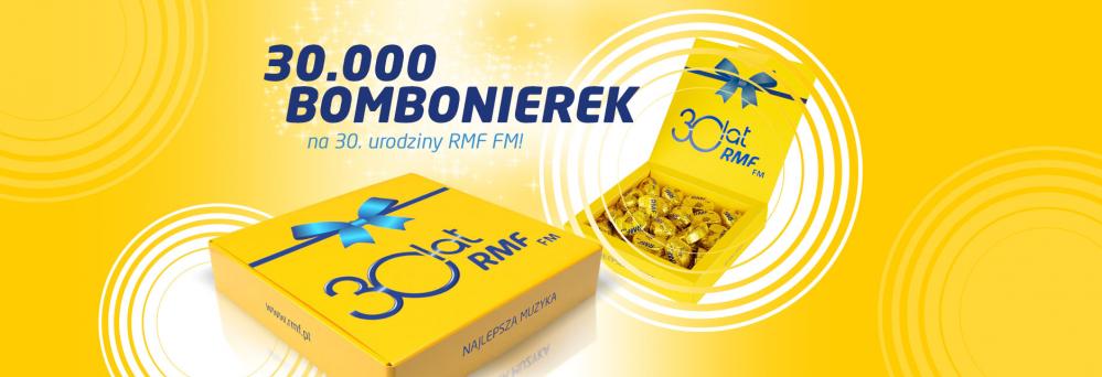 30 tysięcy bombonierek dla słuchaczy RMF FM z okazji 30. urodzin Stacji