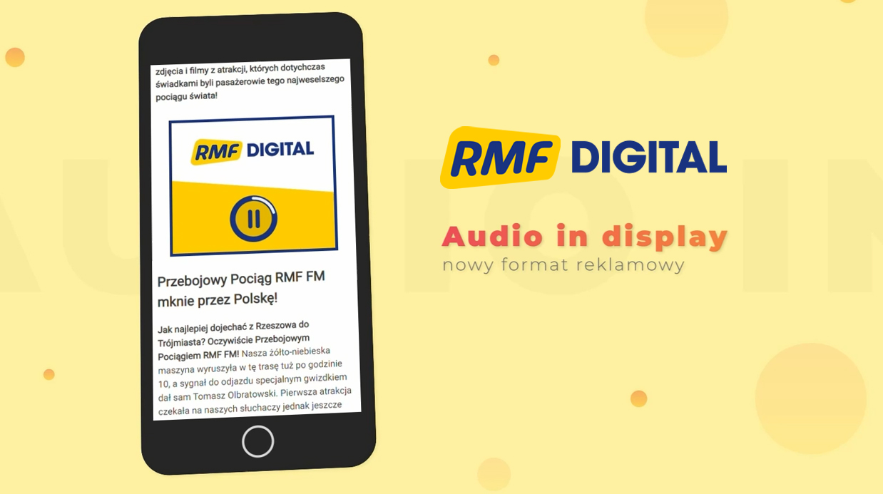 Audio in Display – nowy format reklamowy w ofercie RMF Digital